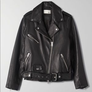 Wilfred Free Lennon Biker Relaxed Leather Jacket